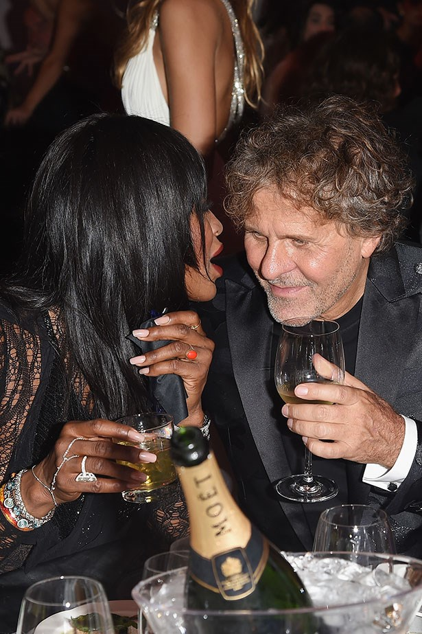 Naomi Campbell and Renzo Rosso