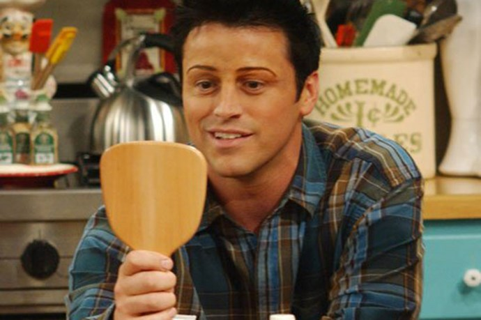 <em><strong>Friends</strong></em> <br> <br> That time that <em>Joey</em> got his eyebrows shaped by Chandler. So '90's, so wrong.