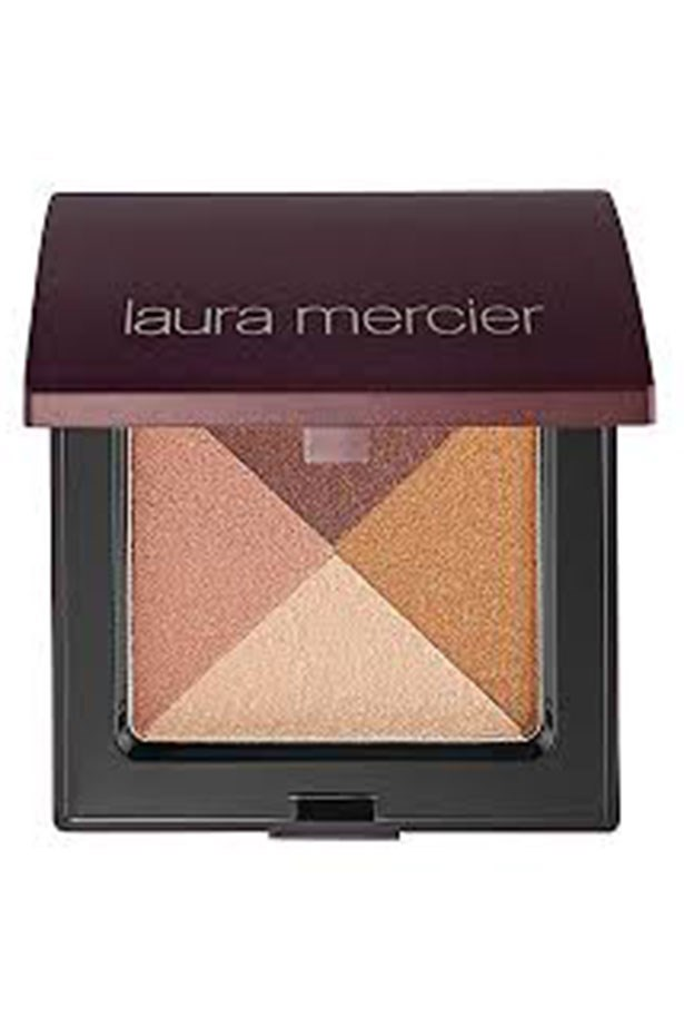 """<em>""""<a href=""""http://shop.davidjones.com.au/djs/en/davidjones/shimmer-bloc"""">Laura Mercier Shimmer Bloc</a> is my all-in-one wonder!! It's a light shimmer for highlighting, the gold and the brown  shadow is perfect for the transition from day to night and the peach is great for adding a  bit of colour to your cheeks.""""</em> <BR> <BR> <strong>Eden Abagi, Deputy Art Director</strong>"""