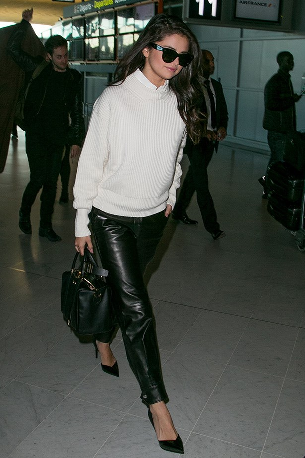 This perfect airport outfit.