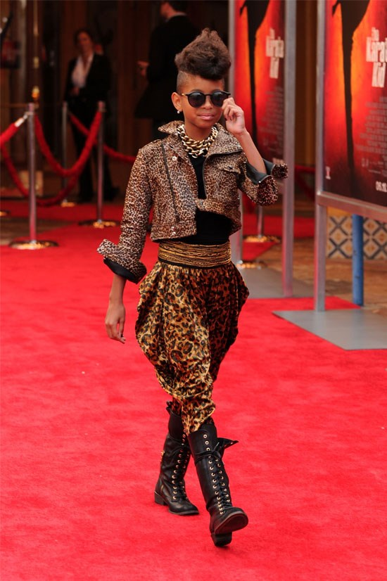 <strong>Karate Kid Premiere in Los Angeles, 2010</strong> <BR> <BR> Leopard print on leopard print with gold chains, black boots and sunnies? At age 10, Willow cements her strong style with this look.
