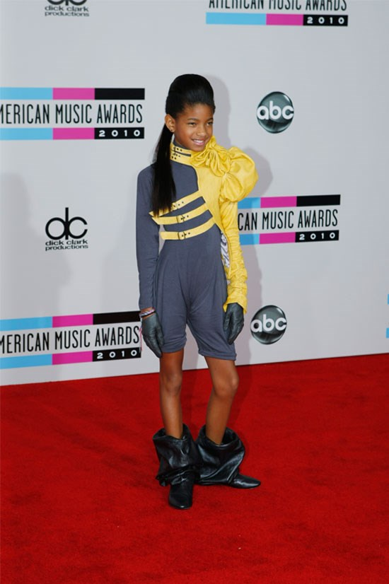 <strong>2010 American Music Awards</strong> <BR> <BR> Not really sure what's going on here, but hey, she's only 10.