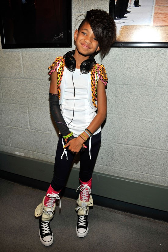 <strong>Backstage before Justin Bieber performs in Madison Square Gardens, 2010</strong> <BR> <BR> Channelling her inner rock chick, Willow opts for converse with an extra lace-up detail. Very avant-garde.