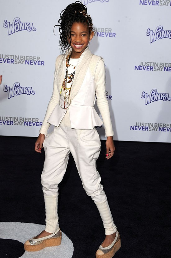 <strong><em>Justin Bieber: Never Say Never</em> Los Angeles Premiere, 2011</strong> <BR> <BR> Willow ups the ante after turning 11 with this white suit ensemble.