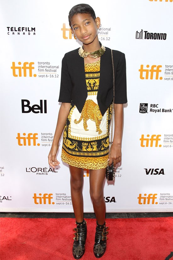 <strong><em>Free Angela & All Political Prisoners</em> Premiere at the 2012 Toronto Film Festival</strong> <BR> <BR> Willow looks gorgeous in this animal print dress. Her Chloé boots are a perfect match.