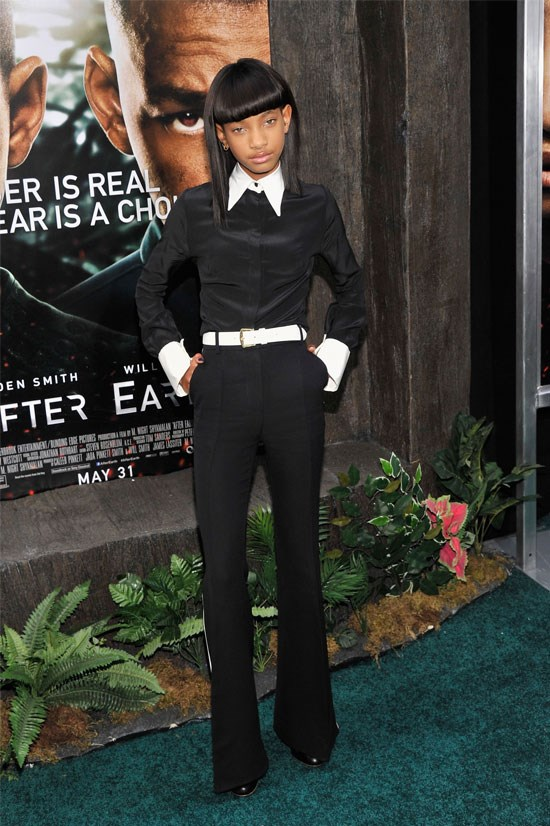 <strong><em>After Earth</em> Premiere in New York, 2013</strong> <BR> <BR> Willow opts for a more minimalist look.
