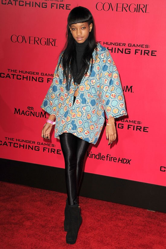 <strong><em>The Hunger Games: Catching Fire</em> Premiere in Los Angeles, 2013</strong> <BR> <BR> Willow rocks these leather pants.