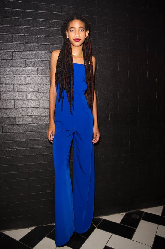 <strong>Christian Casey Combs' 16th Party in California, 2014</strong> <BR> <BR> Willow wows in this sleek royal blue jumpsuit.