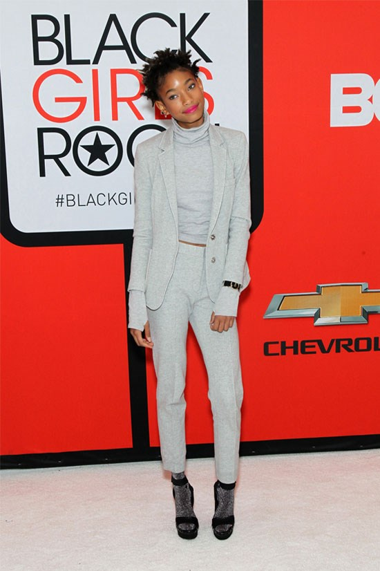 <strong>BET's <em>Black Girls Rock!</em> Red carpet in New Jersey</strong> <BR> <BR> Only Willow could pull off wearing socks with heels.