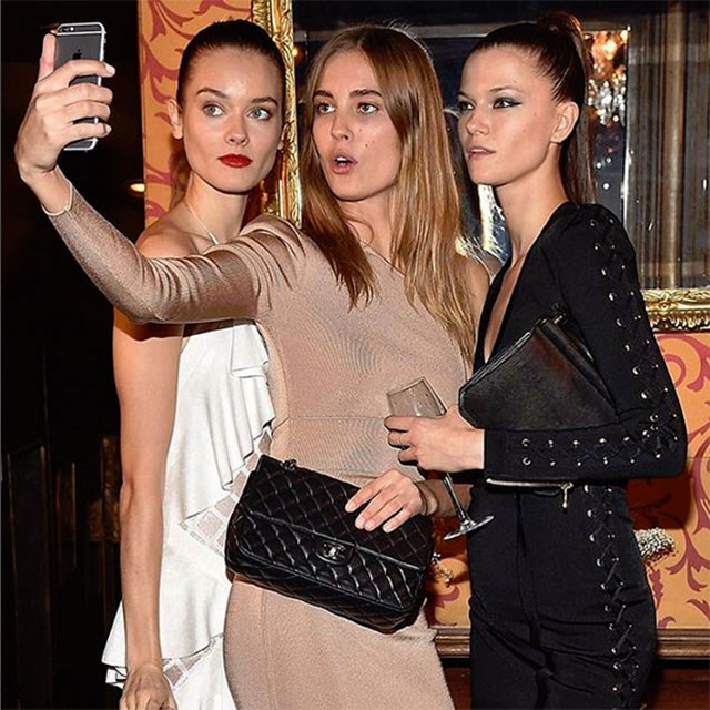 <p>Just a casual array of international supermodels taking a selfie at the after party</p> <p>@balmainparis</p>