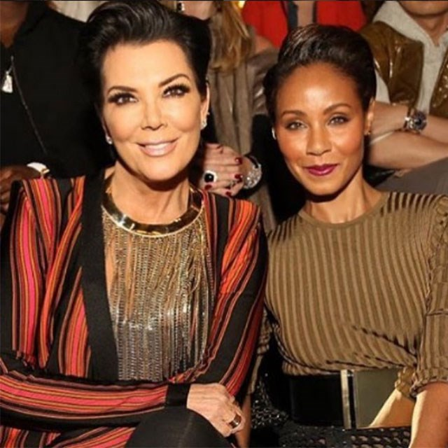 <p>Kris Jenner and Jada Smith sat front row at the runway</p> <p>@krisjenner</p>