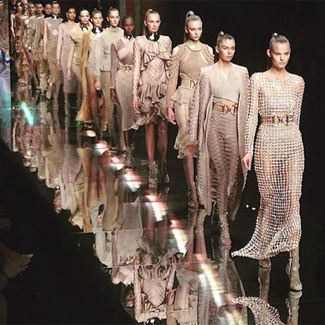 <p>The creative director uploaded this shot and captioned, this is the balmain army</p> <p>@olivier_rousteing</p>