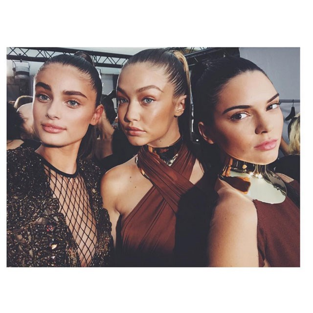 <p>Fashion's latest it-girl Taylor Hill uploaded this shot of herself and Gigi and Kendall. Watch this space!</p> <p>@taylor_hill</p>