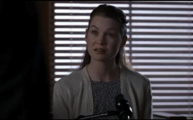 "ELLEN POMPEO Law & Order, season 6, episode 16: ""Savior,"" March 1996. GETTY"