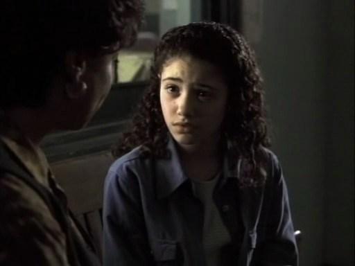 "EMMY ROSSUM Law & Order, season 8, episode 10: ""Ritual,"" December 1997. GETTY"