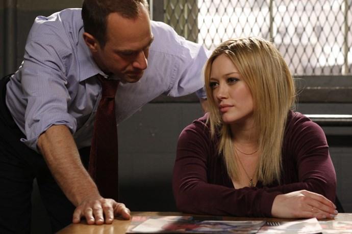 "HILARY DUFF Law & Order: SVU, season 10, episode 19: ""Selfish,"" April 2009. GETTY"