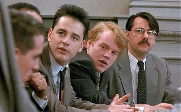 """PHILIP SEYMOUR HOFFMAN Law & Order season 1, episode 14: """"The Violence of Summer,"""" February 1991. GETTY"""