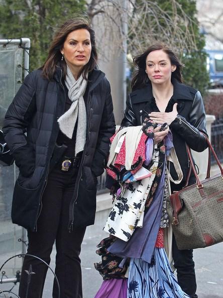 "ROSE MCGOWAN Law & Order: SVU, season 12, episode 19: ""Bombshell,"" March 2011. GETTY"