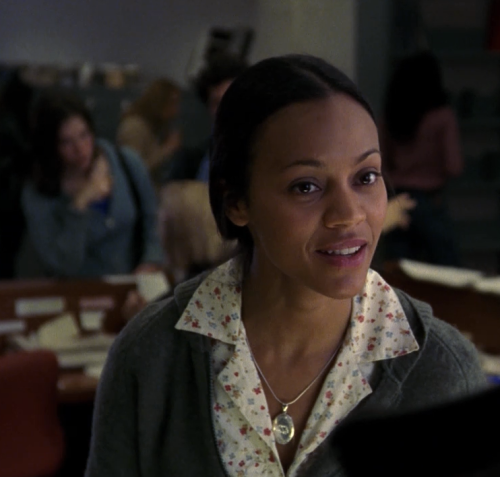 "ZOE SALDANA Law & Order: SVU, season 5, episode 21: ""Criminal,"" April 2004. GETTY"