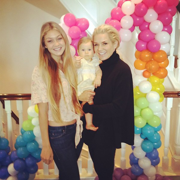 <em><strong>GIGI HADID</strong></em> <p> It turns out that Gigi's baby face was way amplified when she was still a baby. This sweet shot of her and her fam is a pretty sharp contrast to her Insta now.