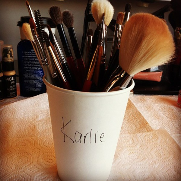 <em><strong>KARLIE KLOSS</strong></em> <p> Karlie's very first Insta post combined all her loves: coffee, fashion and being adorable.
