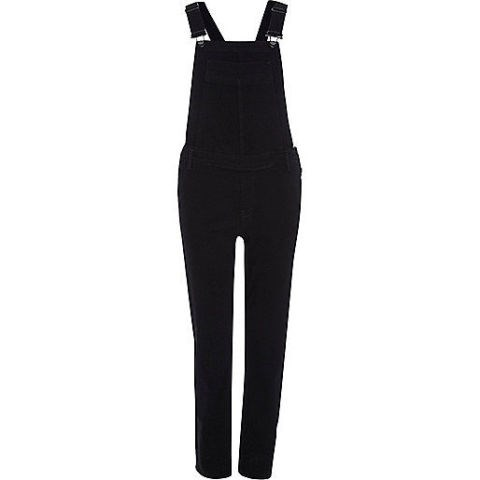 "River Island Black Slim Leg Overalls, $96; <a href=""http://au.riverisland.com/women/playsuits--jumpsuits/dungarees/black-slim-leg-dungarees-672051"">au.riverisland.com</a>"
