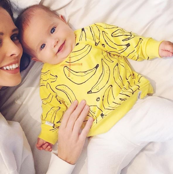 Coco posted this to Instagram: She's B.A.N.A.N.A.S! 🍌🍌🍌 #ioniconran <br> <br> Babies should wear banana jumpers more often.