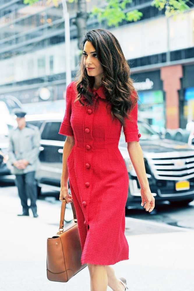 "<strong>Amal Clooney</strong> <br> <br> ""Always looks polished yet effortless, not the most conventional beauty but works with her own striking looks. Plus has a BRAIN and her own career and isn't just George's arm candy which in my view is more chic than anything else."" <br> <br> Charlotte Rottenberg - PA to Publisher"