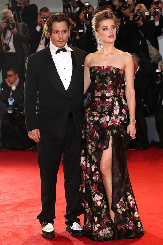 Johnny Depp married Amber Heard in February.