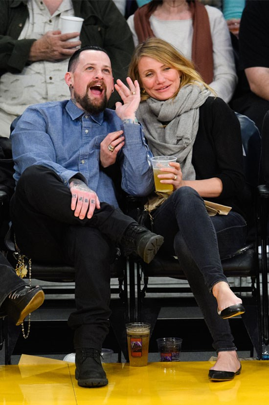 Cameron Diaz and Benji Madden got married in January (kiss cam?!)