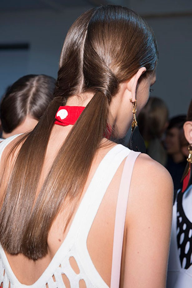 <strong>Best pigtails: Marni</strong> <br> <Br> <em>Paul Hanlon</em> added an interesting twist (<em>literally</em>) to his pigtails at the <em>Marni </em>show, making the classic playground style super cool.