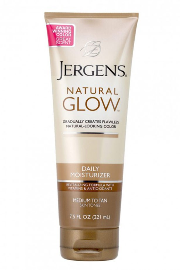 "<strong>Best gradual tanner: </strong> <a href=""https://www.priceline.com.au/jergens-natural-glow-daily-moisturiser-medium-to-tan-221-ml"">Jergens Natural Glow Daily Moisturiser</a>"