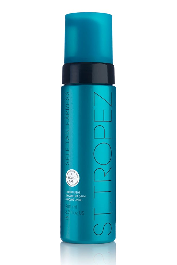 "<strong>Best fast-acting tan: </strong><a href=""http://shop.sttropeztan.com.au/self-tan-express-bronzing-mousse/""> St. Tropez Self Tan Express Mousse</a>"