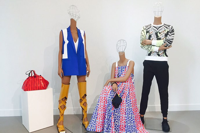 <em>Even the mannequins at the Kenzo showroom are having a good time. After all, it's always good to be reminded to have a little fun!</em>