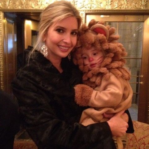 <strong>IVANKA TRUMP'S DAUGHTER ARABELLA</strong> <br> As a lion.