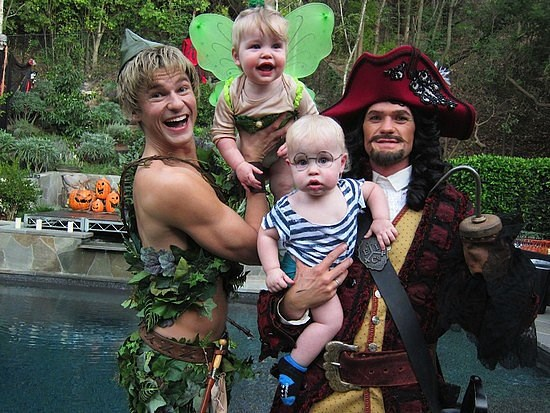 <strong>NEIL PATRICK HARRIS AND DAVID BURTKA'S TWINS, HARPER AND GIDEON</strong> <br> As Tinker Bell and John from 'Peter Pan.'