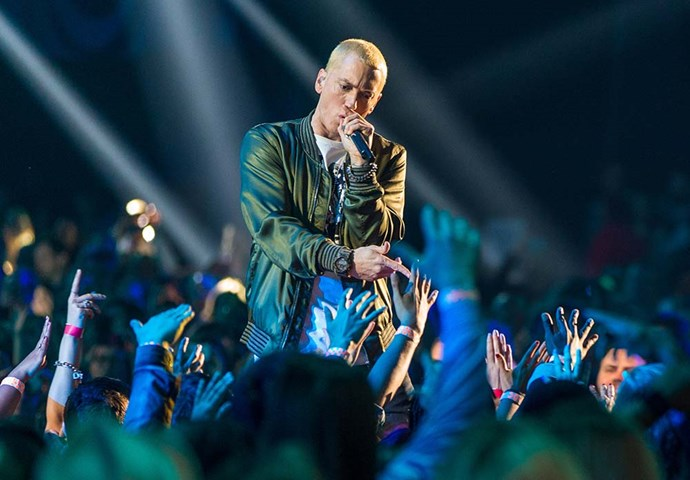 <strong>EMINEM</strong> <br> <br> Mr Mathers once asked for a wooden pond to be built backstage for him and the filled with koi carp. For zen purposes I suppose?