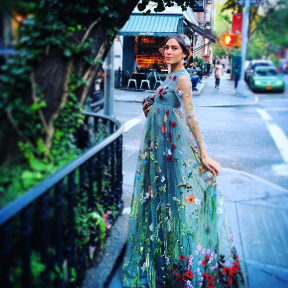 Alexa Chung wore this magical fairy dress from Valentino probably just to make our day. Which it did. DREAMY. Image via Instagram/chungalexa