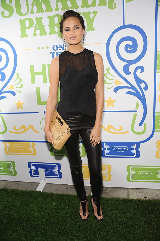 Chrissie Teigen is an excellent wearer of leather pants.