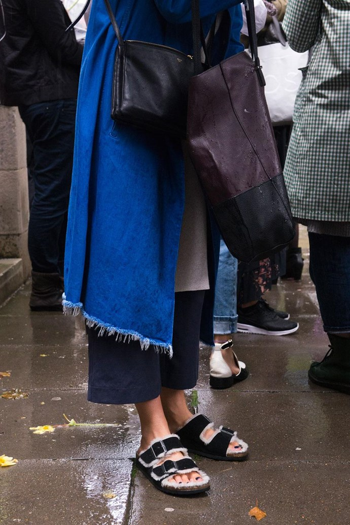 Add this frayed denim duster to your Pinterest board.