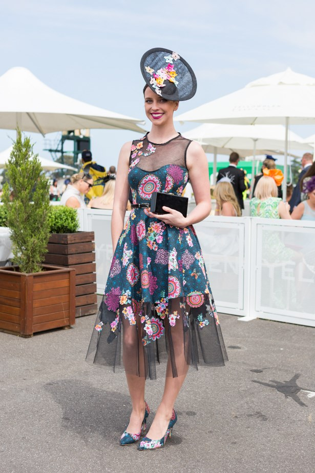 Name: Anneliese Wilson<br><br> Outfit: Anneliiese dress, shoes by Libbe Sullivan, millinary by Julie-Cragill <br><br> Race day: Caulfield Cup 2015 <br><br> Location: Melbourne <br><br>