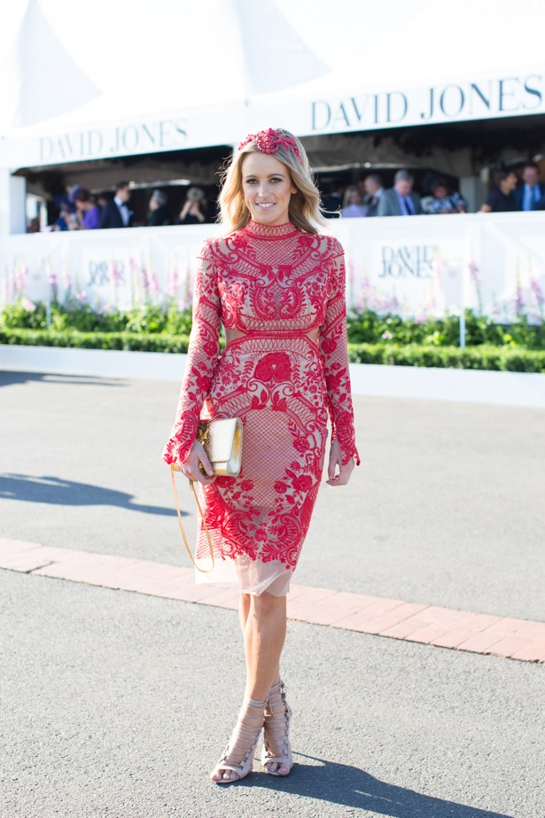 Name: Helen O'Connor<br><br> Outfit: Thurley dress <br><br> Race day: Caulfield Cup 2015 <br><br> Location: Melbourne <br><br>