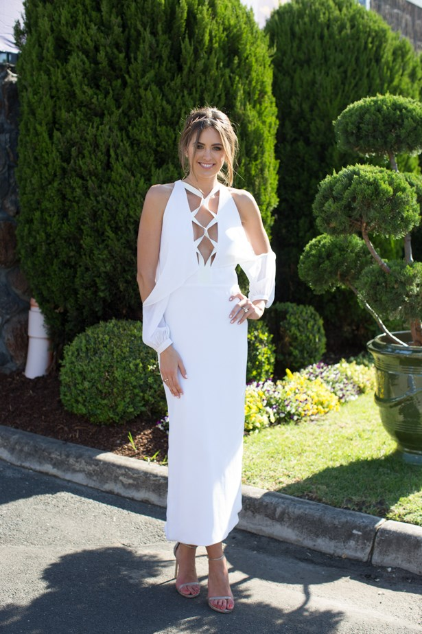 Name: Jesinta Campbell<br><br> Outfit: Dion Lee dress, Stuart Weitzman shoes <br><br> Race day: Caulfield Cup 2015 <br><br> Location: Melbourne <br><br>