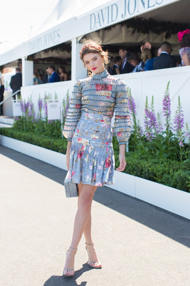 Name: Montana Cox<br><br> Outfit: Zimmermann top and skirt, Hatmaker millinery <br><br> Race day: Caulfield Cup 2015 <br><br> Location: Melbourne <br><br>