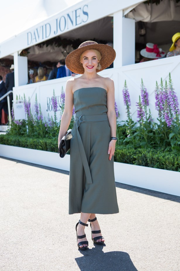 Name: Skye Vallve<br><br> Outfit: Victoria Woods Jumpsuit, Scanlan Theodore shoes, 66thelabel hat and Saint Laurent bag<br><br> Race day: Caulfield Cup 2015 <br><br> Location: Melbourne <br><br>