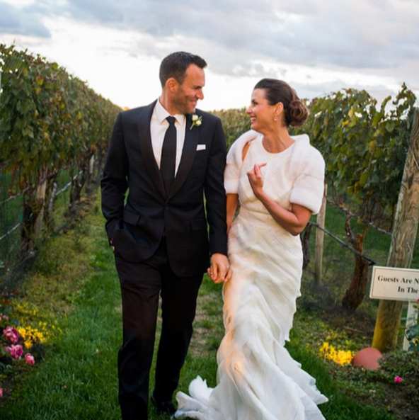 """Blue Bloods (and Sex and the City alum of course!) actress Bridget Moynahan married businessman Andrew Frankel in a beautiful surprise wedding in the Hamptons. Moynahan captioned the this pic on her Instagram """"SoHappy #Perfection #Friends #Family #Forever."""" <br><br> Moynahan has an 8-year-old son, Jack, with her ex, Tom Brady."""