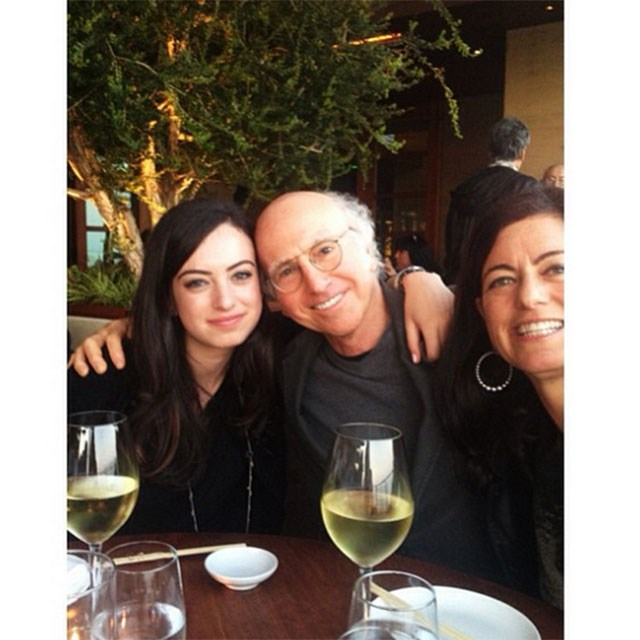 Family shot! Her father, Larry David is a television producer responsible for creating shows like Seinfeld and her mother Laurie David is an environmental activist who produced <em>An Inconvenient Truth</em>, whoa.