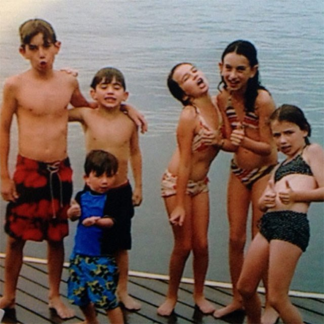 Cazzie holidaying with the Kennedy family when she was younger, just casually.