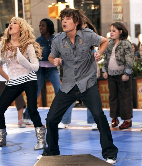 MARCH 30, 2006 Because ONE year later, he's dancing on morning TV after that little Disney movie he starred in, High School Musical,became a mega hit. He's still a little awkward, but look at that effort! GETTY