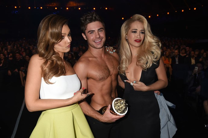 APRIL 13, 2014 Jessica Alba, Rita Ora, and Zac Efron's abs. It's a lot to handle. GETTY
